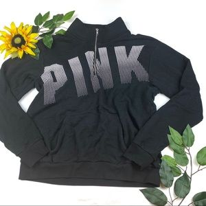 PINK Victoria's Secret 1/4 Zip Pullover Sweater